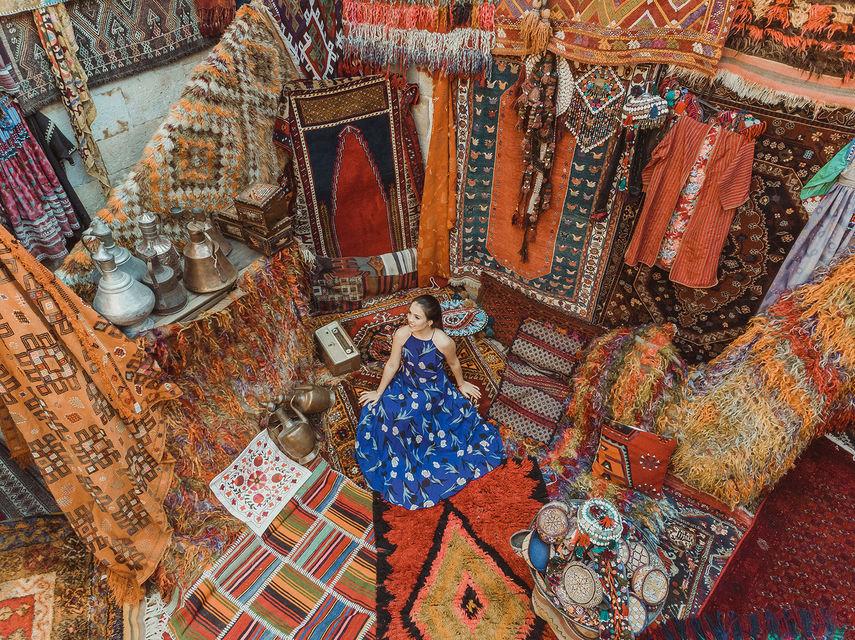 tæppebutik kappadokien  - Book et photoshoot i Kappadokien