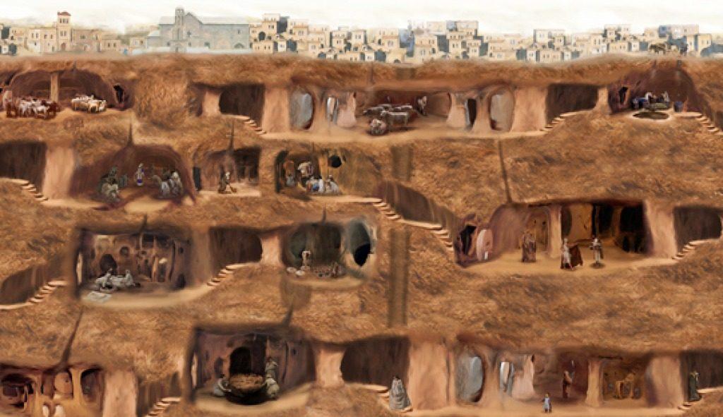 Derinkuyu Underground City diagram 1024x591 1024x591 - Derinkuyu - en kæmpe underjordisk by i Kappadokien