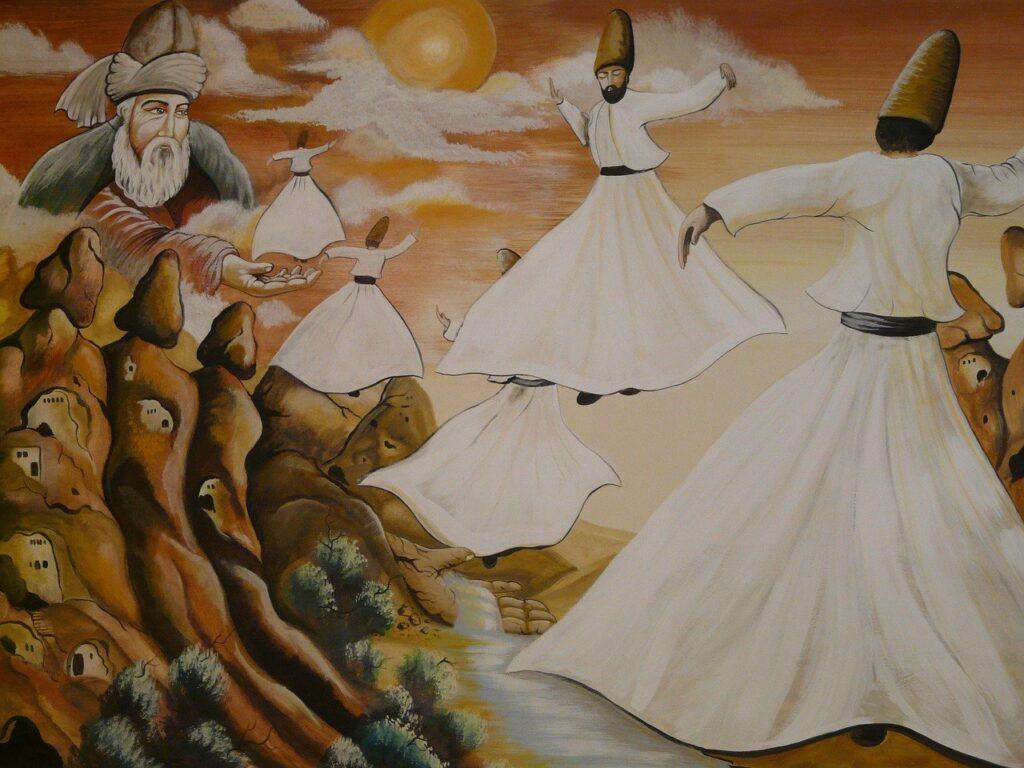 dansende dervisher i Tyrkiet 1024x768 1024x768 - Sarihan Karavanestation i Kappadokien